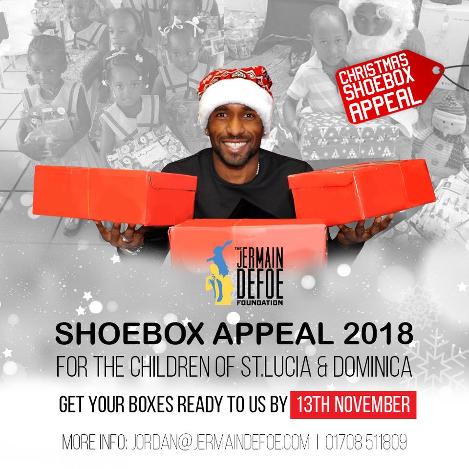 Christmas Shoe Box Appeal.Christmas Shoebox Appeal 2018 Jermain Defoe Foundation
